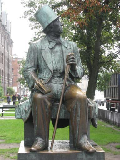 Hans Christian Andersen statue in Copenhagen, Denmark