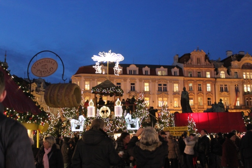 A chilly December evening in Old Town, Prague