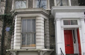 Alfred Hitchcock used to live on Cromwell Road. I walked by it this past Saturday.