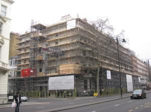 This is the most intense scaffolding job I've seen to date.