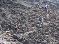 Hiking a volcano in Guatemala.