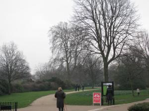 Entering Kensington Gardens