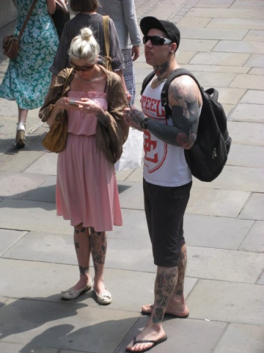 Do you think this man is always so patient? One of my pet peeves is people who are constantly checking their cell phones. Photo taken in London.
