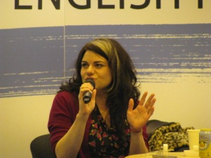 Photo taken during the London Book Fair, 2012.