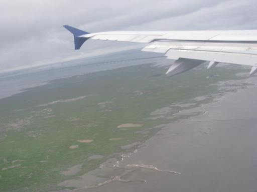 Photo taken during our flight from Oslo to Copenhagen. However, I can't remember if we were taking off or landing.