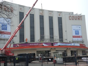 Last week they started the setup at Earl's Court Exhibition Centre.