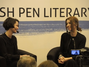 Elif Shafak is on the right.