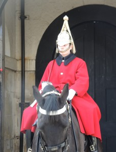 This guard and horse don't want to look at me.