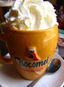 After I finished my beer I felt like having some dessert. This hot chocolate did the trick.