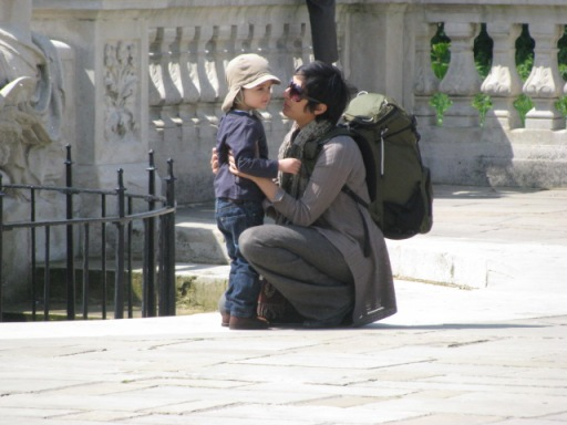 I wonder what he did. And to be honest, he doesn't seem to be listening. Photo taken in Kensington Gardens.