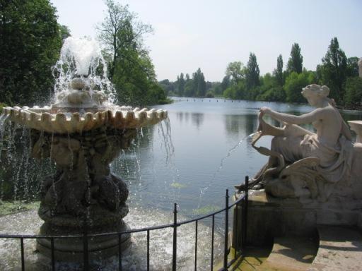 The Italian Gardens in Kensington Gardens, London.