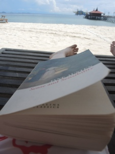 Sometimes I was too distracted to read whilst on Mabul Island.