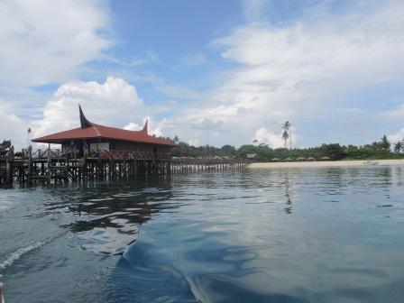 Photo taken as we left Mabul Island.