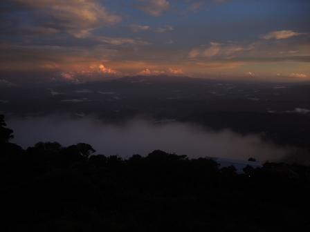 Sunset on Mount Kinabalu, Malaysia.