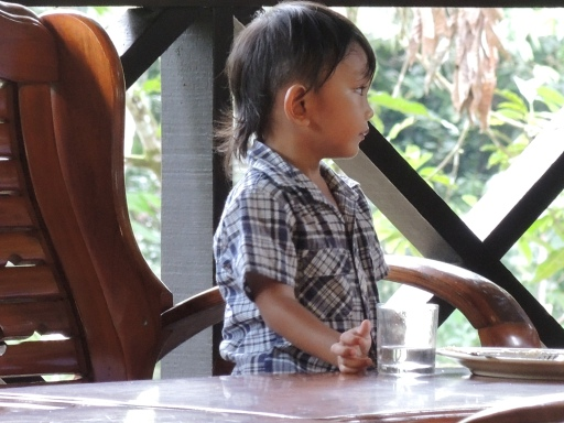 This little boy was at one of the lodges in Malaysia. He was very shy and I wish I snapped a photo of him smiling. It would melt most hearts.