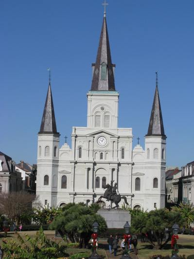 Jackson Square in New Orleans, Louisiana.