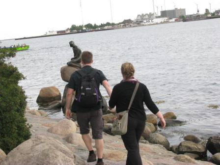 """Come on, let's see the Little Mermaid so we can mark if off the list."" Photo taken in Copenhagen, Denmark."