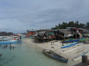 The village on Mabul Island, Malaysia.