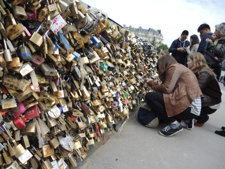 I saw a few photos of the Love Lock Bridge in Paris around the Blogosphere recently and I couldn't remember if I had any photos from my recent trip. Turns out I did.