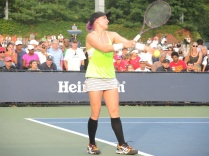 The rebel (Bethanie Mattek-Sands--notice the purple hair)