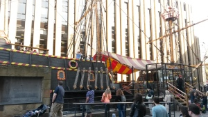 A horrible shot of the Golden Hind